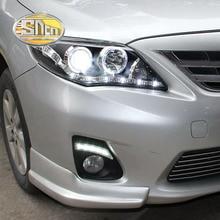 Sncn 2 шт. светодио дный днем ходовые огни для Toyota Corolla 2011 2012 2013 автомобильные аксессуары Водонепроницаемый ABS 12 В DRL противотуманных фар украшения