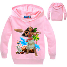 Newest Sale Children Clothing Girls moana Hoodies Sweater Cotton Cartoon Print Boys Clothes kids Tops Sweater Baby Sweatshirt цены