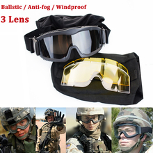 Outdoor Sport Anti-frog Windproof Goggles War Game Airsoft Sport Ballistic Tactical Safety Glasses UV400 Eyewear 3 Lens брюки tactical frog tactical frog mp002xm0qru2