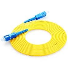 SC UPC Patchcord Simplex PVC de 2.0mm Single Mode Fiber Patch Cable Patch Cord SC Jumper de Fibra Óptica SM SX SC Patchcord Fibra