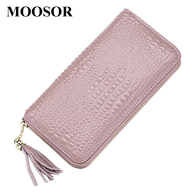 2018 New Genuine Leather Wallet Women Lady Long Wallets Women Purse Female 5 Colors Women Wallet Card Holder Day Clutch DC249 yuanyu 2018 new hot free shipping python leather women purse female long women clutches women wallet more screens women wallet
