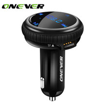 Onever Bluetooth Car Kit Music Player FM Transmitter Modulator GPS Car Finder Locator 2.1A Dual USB Car Charger Support TF Card