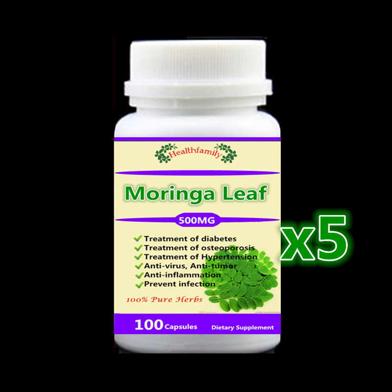 500mg 500Pcs Moringa Leaf Extract Capsules Treatment of diabetes,osteoporosis,high blood pressure | anti-virus, anti-tumor health supplement moringa oleifera leaf extract tablets antioxidant energy booster