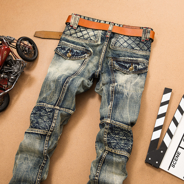 Denim 2019 New Casual Ripped HIP HOP Jeans Men With Holes Super Skinny Famous Jean Scratched Biker Trouers Dropshipping