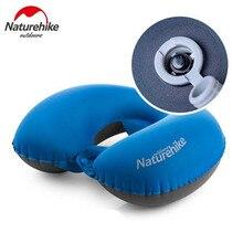 NatureHike Ultralight Inflatable Travel Pillow Airplane Neck Pillow Beach Bed Rest Car Plane Outdoor Sleeping Camping Pillow цены онлайн