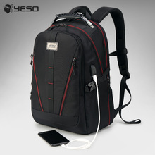 YESO USB Charging Backpack Men Large Capacity Multifunction
