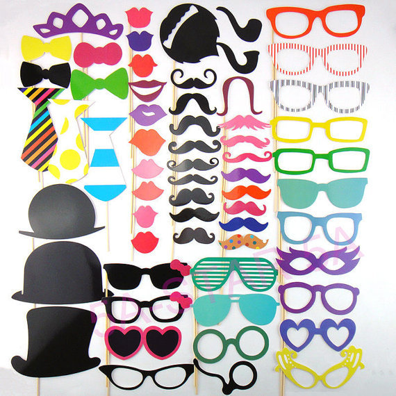 Photo Booth Props Free Quick Shipping 60Pcs/Set Photobooth