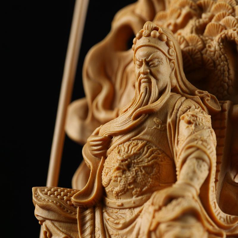 Wooden Guan Yu Feng Shui Figure