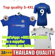 17 18 TOP Quality Chelseas Soccer Jersey 2017 2018 MORATA Willian HAZARD  DIEGO COSTA KANTE WILLIAN DAVID LUIZ Football Shirts da7ed33b6