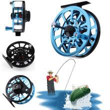2 Colors 85mm Machined Aluminium Fly Fishing Reel Micro Adjusting Drag Adjustable Fly Fishing Reels