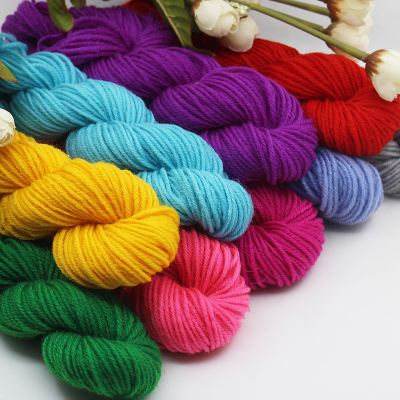 10 skein mix colors acrylic cheap yarn for kids diy for Craft with woolen thread