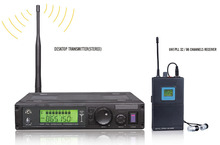 In Ear Monitor System Professional Stereo Earphones / UHF PLL Monitoring / One Transmitter with Multiple Receivers