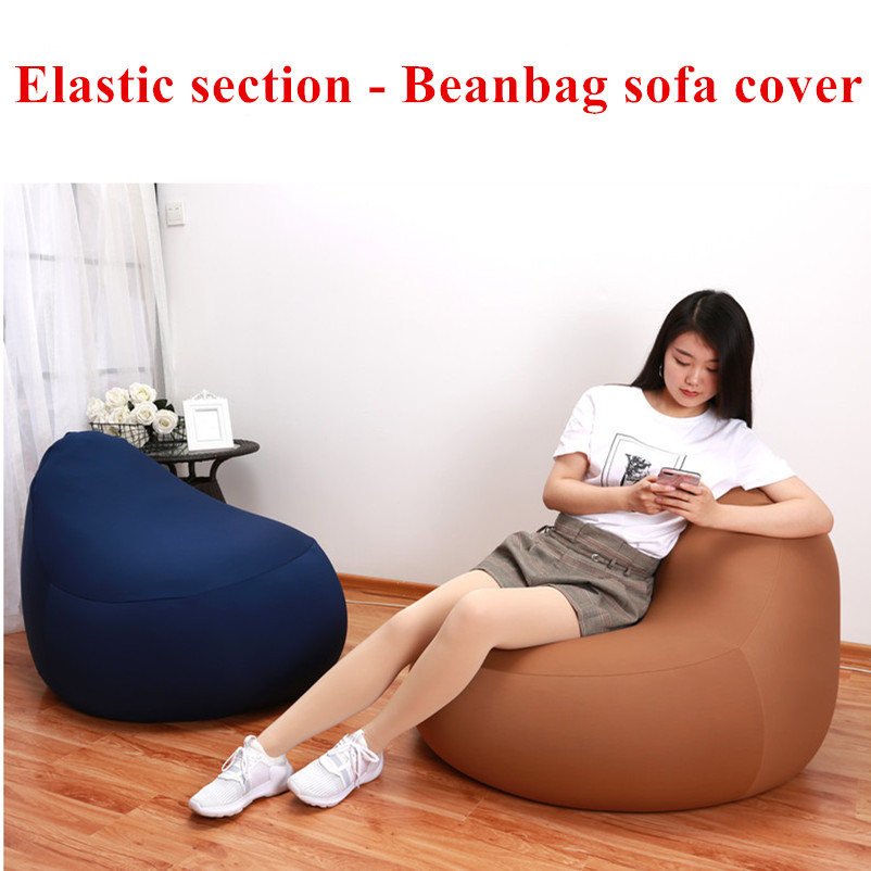 Bean Bag Sofa Cover No Filler Elastic Lycra Cotton Pouf Puff Seat Living Room Chairs Beanbags Lounger Sofa Lazy Home Furniture sofa elastic webbing sofa tension belt bed elastic bandage