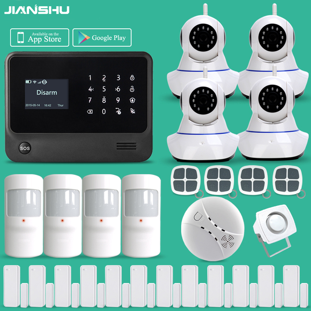 Hot Sale Home Security Alarm System Work With WIFI IP Camera GSM ...