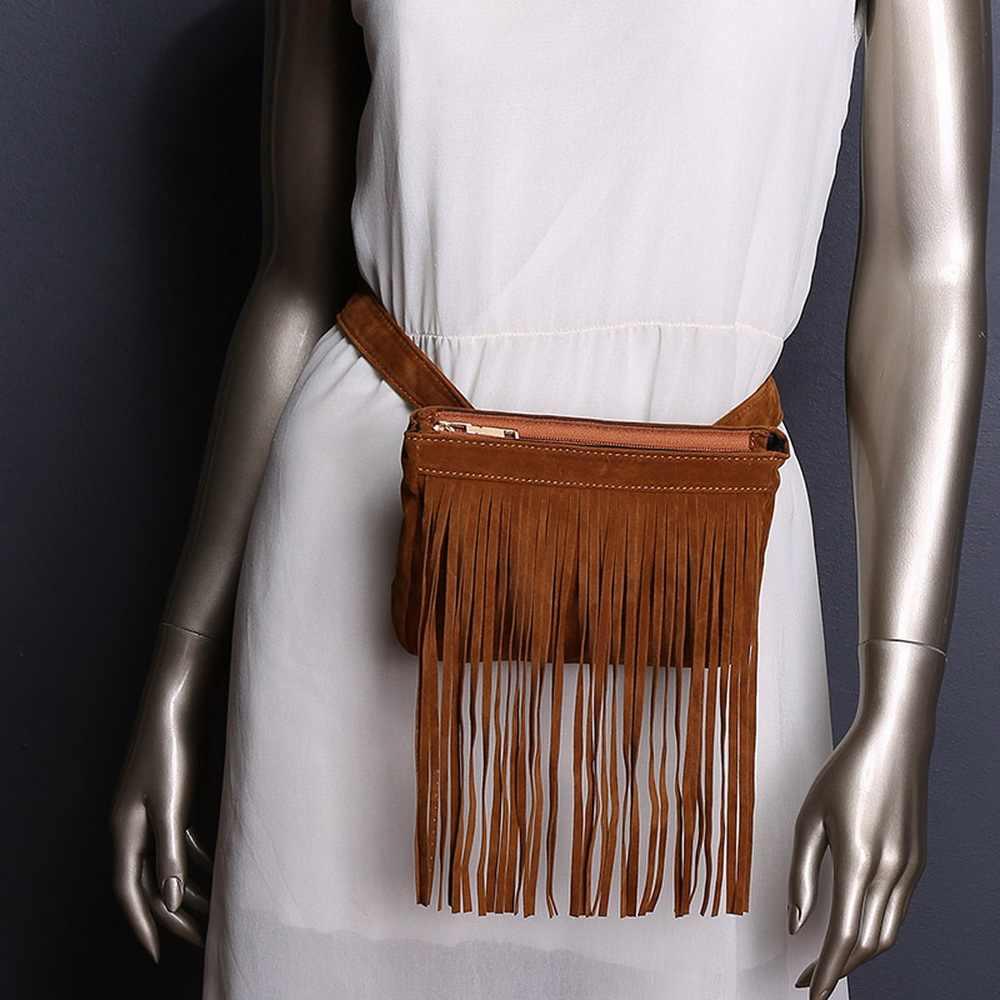 FUNMARDI 新到着女性ウエストパックファッションシンプルなデザインバッグ古典的な流行のウエストバッグヴィンテージタッセルバッグ WLAM0144