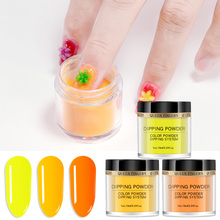 10g/Box Neon Phosphor Dipping Powder Nail Glitter 12 Colors Dust Shining Spangles Fluorescent Natural Dry FA26-12