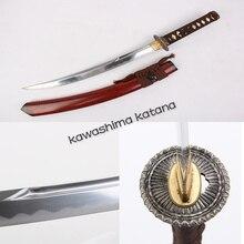 Handmade High Quality Samurai Sword Katana Tanto Full Tang Sharp Edge Short Sword Carbon Steel Half Groove