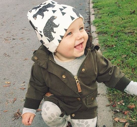 Baby Caps Cotton Knitted Color Printing Baby Hat Autumn Winter Childrens Hat Baby Beanie ...
