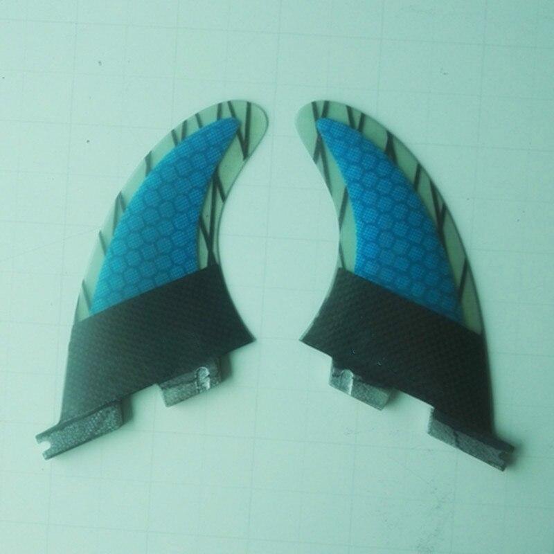 Carbone Fiber De Verre Planche De Surf Ailettes 2 pcs/ensemble Fcs Quilhas Bleu Nid D'abeille Pranchas Surf Surf Sup Paddle Lame G3