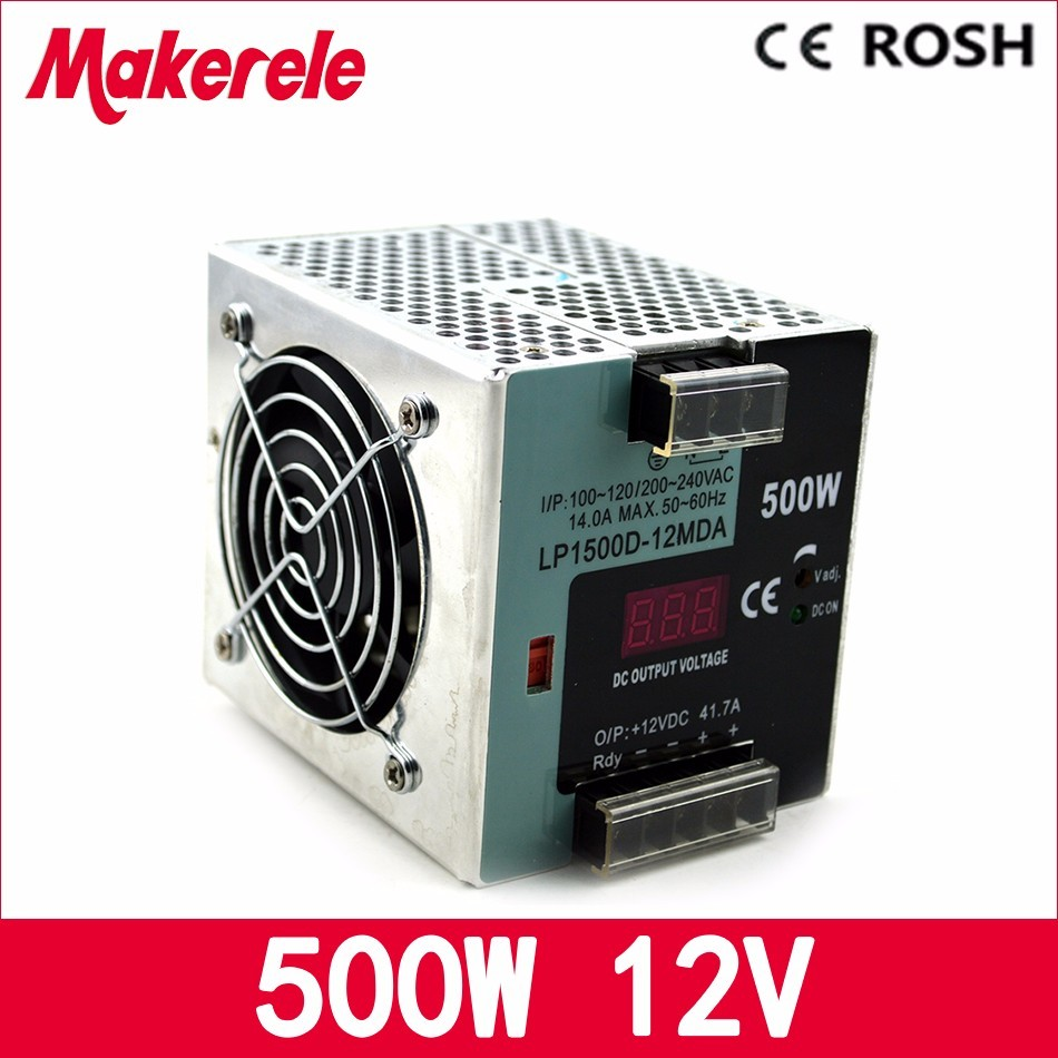 ФОТО ac-dc switching power supply 12v LP-500-12 500W 37.5A  single output Din-rail power supply with Digital display led driver