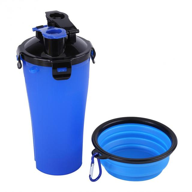 Portable Pet Bottle Feeder Dog Food Dog Water Bowls Dish Cup Outdoor Travel Food Supplies Container