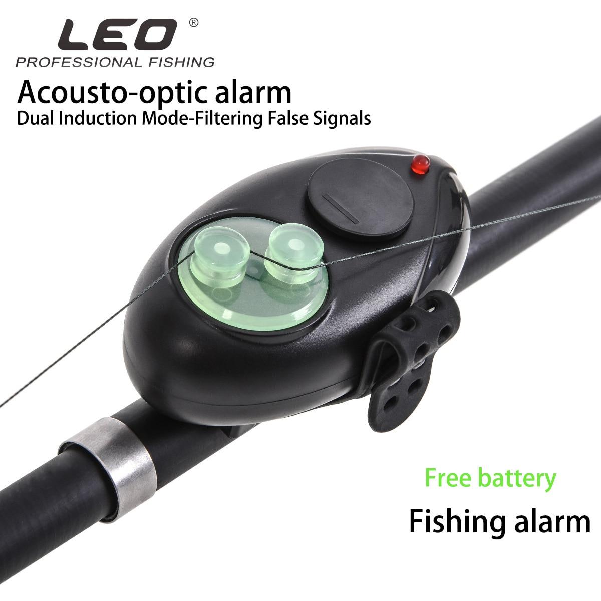 Leo Sea Fishing Alarm 28041 Bundled Acoustooptic Alarm Rock Fishing Accessories Pesca Electric Alarms Lure Tool PC Rubber Light