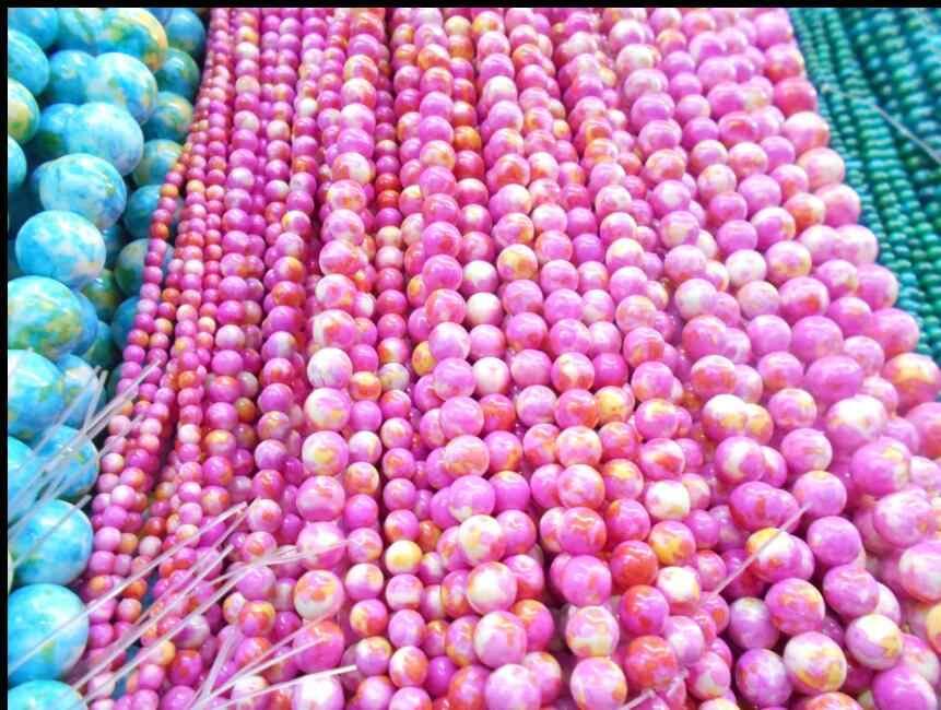 Tormalina Rubellite Giade Tanzanite Rosa Naturale Perline di Pietra Per Monili Che Fanno Perline Fai Da Te Collana Del Braccialetto 4 / 6 / 8 / 10 / 1