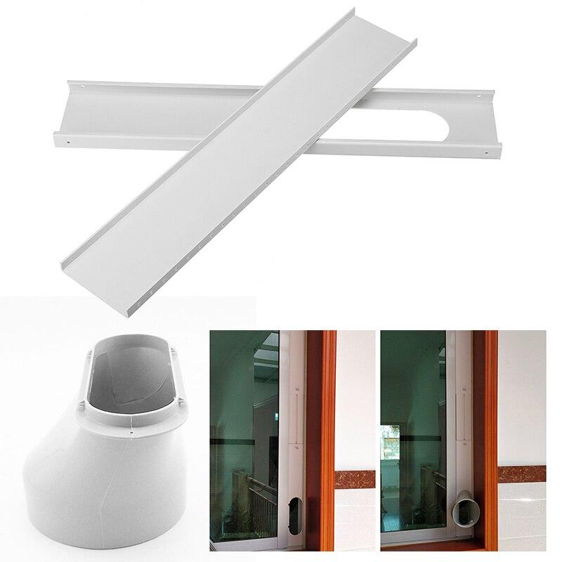 Durável 2PCS Deslize Placa Kit Adaptador Janela 55-110cm Para Condicionador de Ar Portátil Para Casa Melhorias Fornece