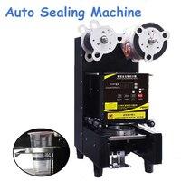 Automatic Sealing Machine Bubble Milk Tea Shop Packing Sealer Commercial Electric Pressure Plastic Cup Lid FW 95