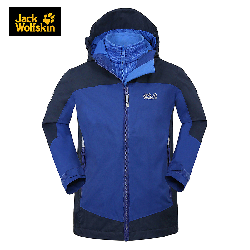 Jack wolfskin Fleece Windbreaker Boys Girls Children Jackets 2 PCS Outdoor Sports Thermal Windproof Wear-resistant