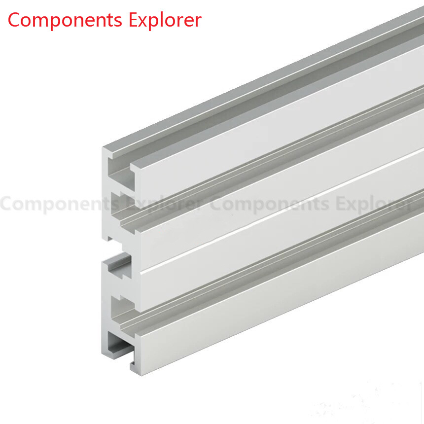 Arbitrary Cutting 1000mm 1560G Aluminum Extrusion Profile,Silvery Color.