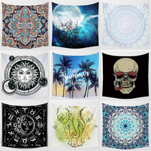 creative pattern moon skull skeleton  flowers macrame  pattern wall hanging tapestry home decoration wall tapestry tapiz pared halloween distressed skull pattern wall art tapestry