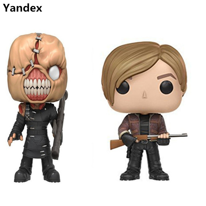 Yandex lol10CM PVC Resident Evil Gil Lyon tracer licking the eater Q version of shaking head doll model to collect model toys