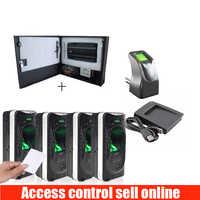 original zkteco 4 Door INBIO 460 Fingerprint with Card Access Control System Kit with original Power Supply Box with FR1200