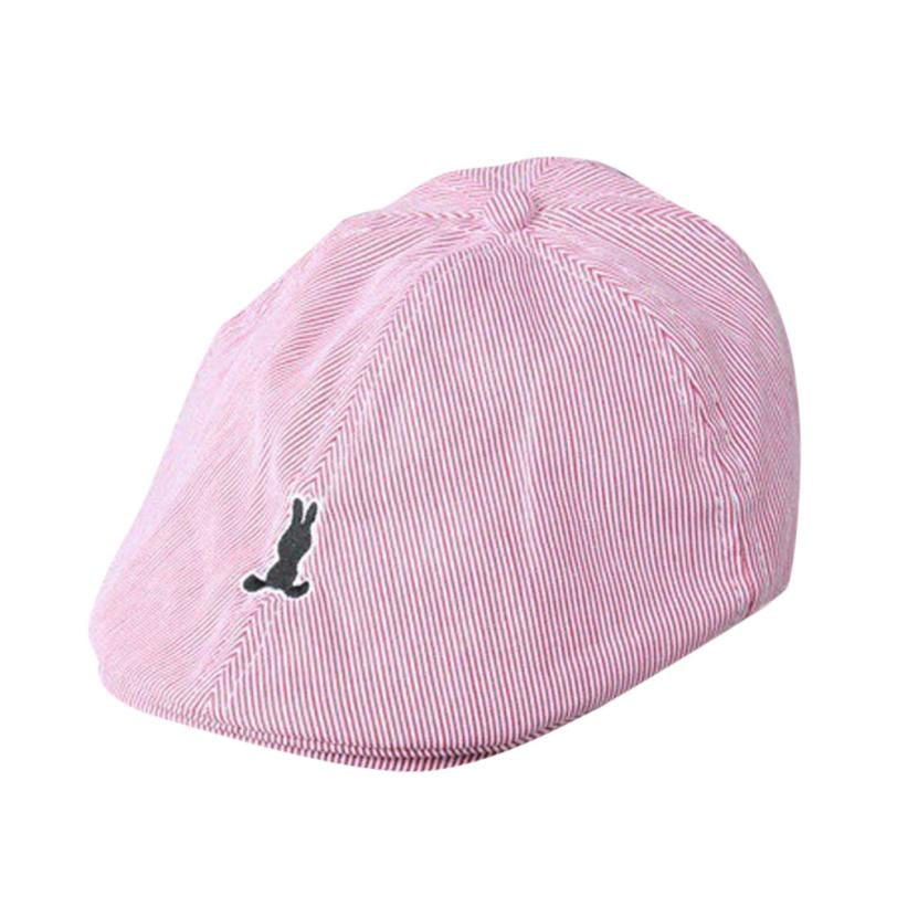 Детские для маленьких мальчиков девушки хлопок полосой берет Кепки газетчик Casquette Бейсбол шляпа A35 SEP1