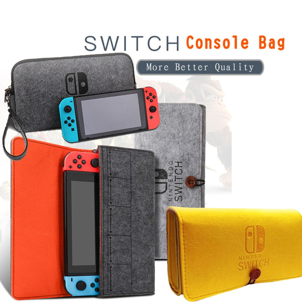 Storage Bag For Nintendo Switch Console Pika Case Durable Carrying Case For Nintendo NS Switch Game Console Felt Bag Accessories