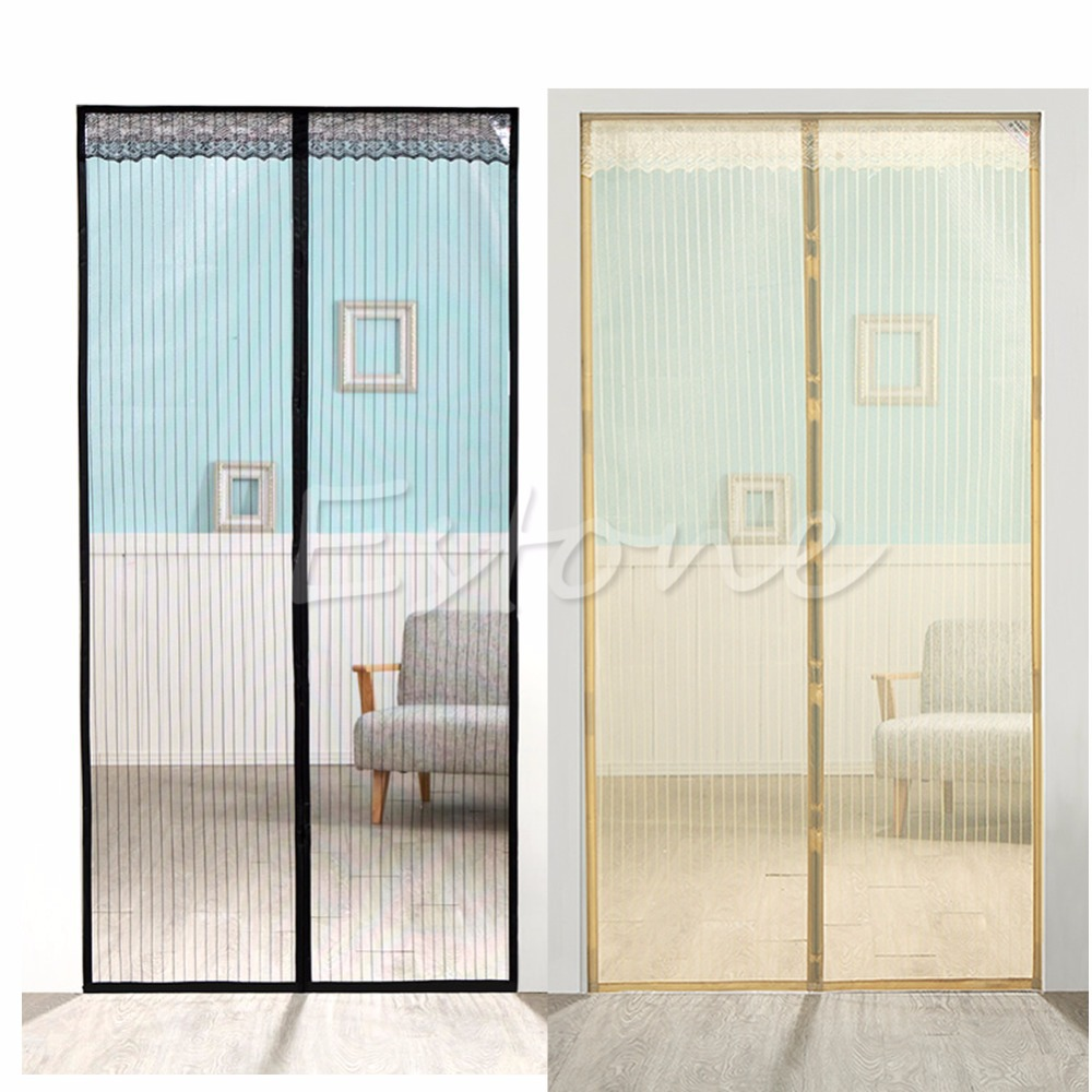 Mesh Door Curtain Magic Magnetic Snap Fly Bug Insect Guard In