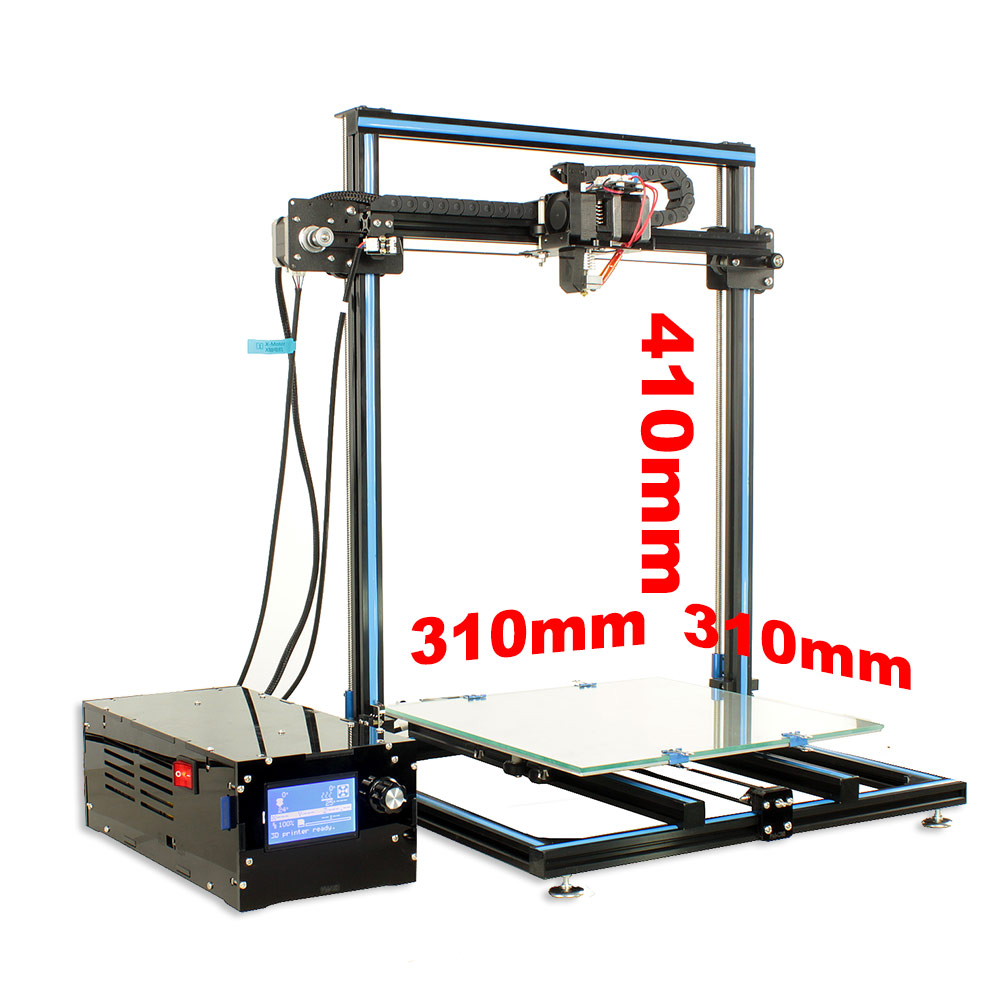 FDM big size 310*310*410mm DIY 3D Printer Set ship from RU Moscow 2018 New All metal structure