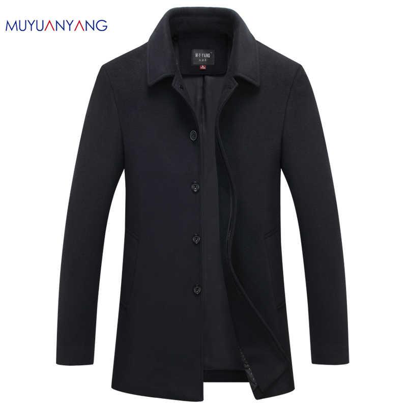 d22745a9314 Mu Yuan Yang Autumn   Winter Single Breasted Woolen Coats 50% Off Men  s