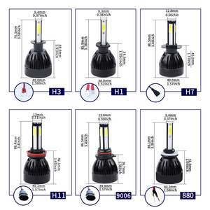 Image 5 - H11 led h7 H1 H3 H11 9005 9006 hb3 hb4 5202 D2 9012 H1R2 auto 4 side led cob h7 Car Light Bulb lamp 12V headlamp headlight 6000k