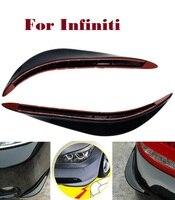 2 ADET Araba SUV Tampon Çıkartmaları Koruyucu 3D Düzene için Infiniti EX FX G JX M Q Q30 Q40 Q50 Q60 Q70 QX QX50 QX60 QX70 QX80