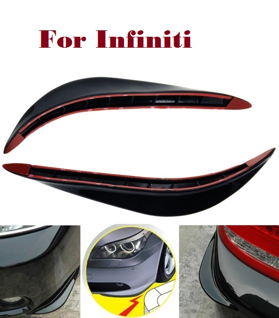 2PCS Car SUV Bumper Stickers Protector 3D Streamline for Infiniti EX FX G JX M Q Q30 Q40 Q50 Q60 Q70 QX QX50 QX60 QX70 QX80 hand sewn leather cowhide steering wheel diy sticker cover for infiniti q50 qx50 ex35 jx qx60 q60 q70 g ex interior accessories