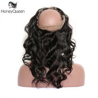 Body Wave 360 Lace Frontal Pre Plucked Brazilian Remy Hair 100 Human Hair Closure With Baby