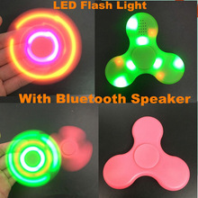 20pcs LED Light Bluetooth Speaker Music Fidget Spinner Finger ABS EDC Hand Spinner Tri For Kids Autism ADHD 4 Styles Handspinner