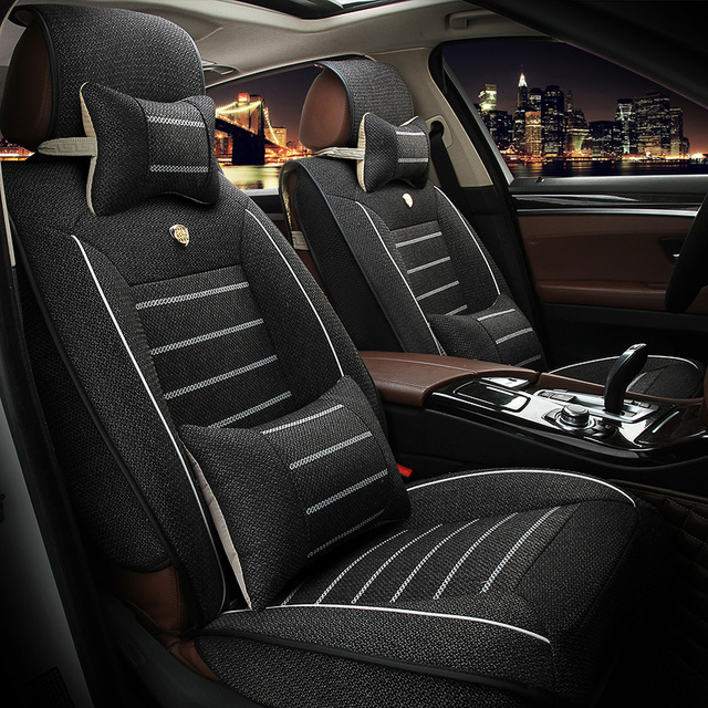 Universal Linen car seat covers For Audi A6L Q3 Q5 Q7 S4 A5 A1 A2 A3 A4 B6 b8 B7 A6 c5 c6 A7 A8 car accessories styling