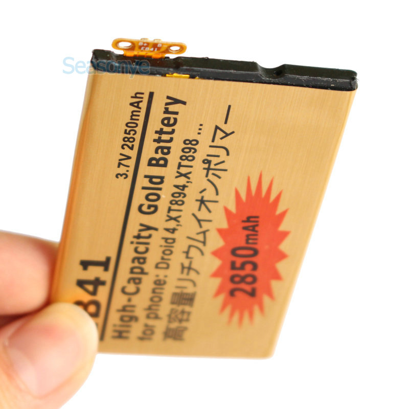 Seasonye 5pcs/lot 2850mAh EB41 Gold Replacement Battery For Motorola Droid 4 XT894 XT898 ...