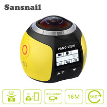 Купить с кэшбэком Sansnail 360 Camera HD Ultra Mini Panoramic Camera WIFI 3D Sports Camera Driving VR Action Camera Video Cam Waterproof 30m