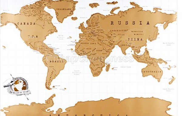 2016 New Travel Scratch Off Map Personalized World Map Poster Traveler Vacation Log National Geographic Map Of The World