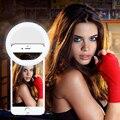 Selfie Портативный Светодиодный Камеры Телефона Фотографии Световое Кольцо Повышения Фотографии для Смартфонов iPhone Samsung Розовый Белый Черный