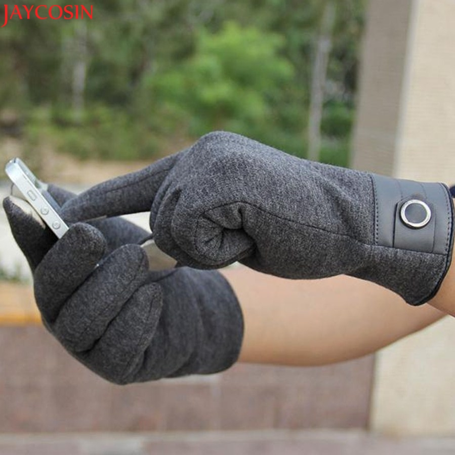 Jaycosin mittens christmas Fashion Men Click Screen Winter Outdoor Sport Warm Gloves Dec7